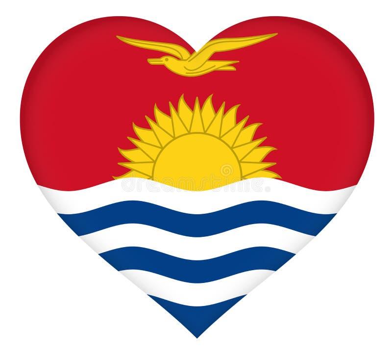 Bandeira do coração de Kiribati ilustração do vetor