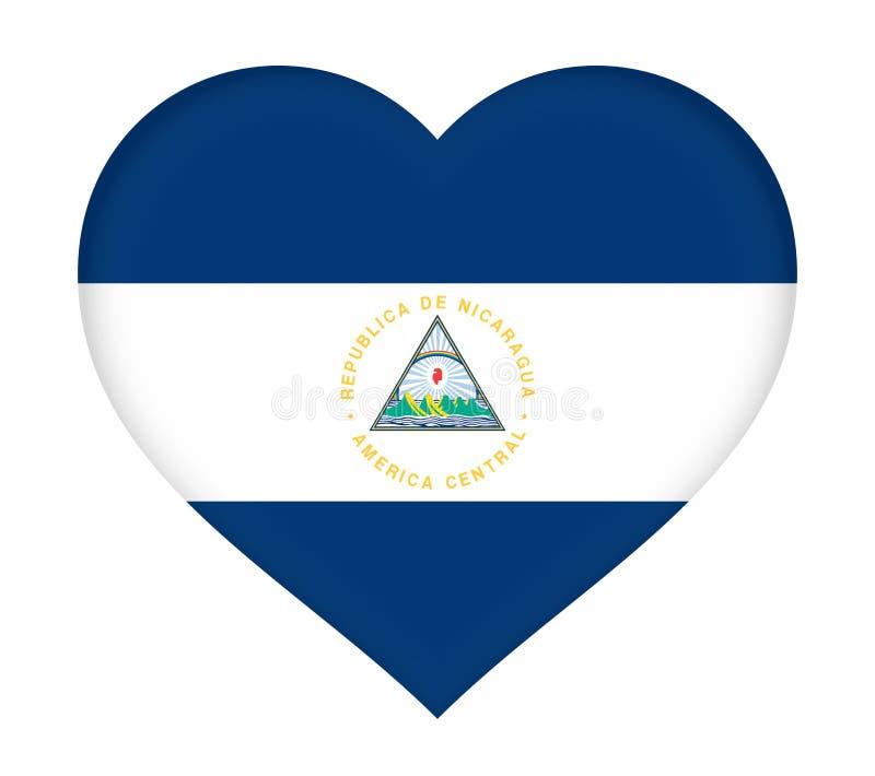 Bandeira do coração de Nicarágua ilustração royalty free