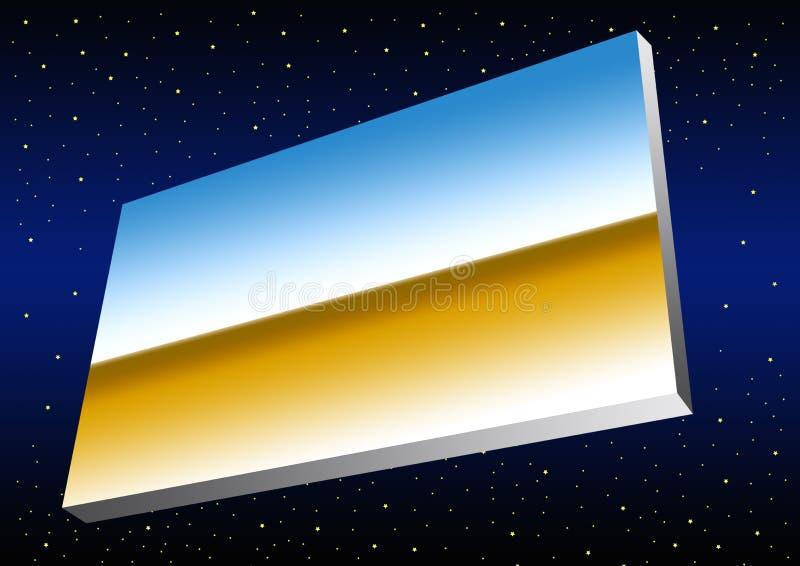 Bandeira do cromo no espaço ilustração do vetor
