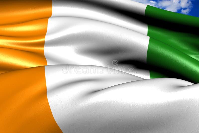 Bandeira do d'Ivoire da costa ilustração stock
