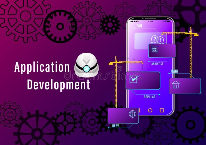 Bandeira do desenvolvimento de aplica??es ilustração stock