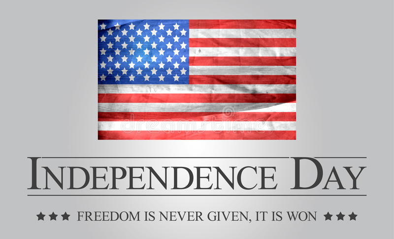 Bandeira do Dia da Independência imagens de stock