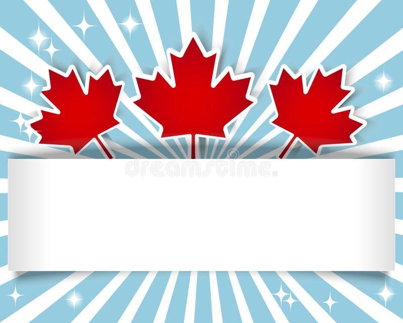 Bandeira do dia de Canadá. ilustração royalty free