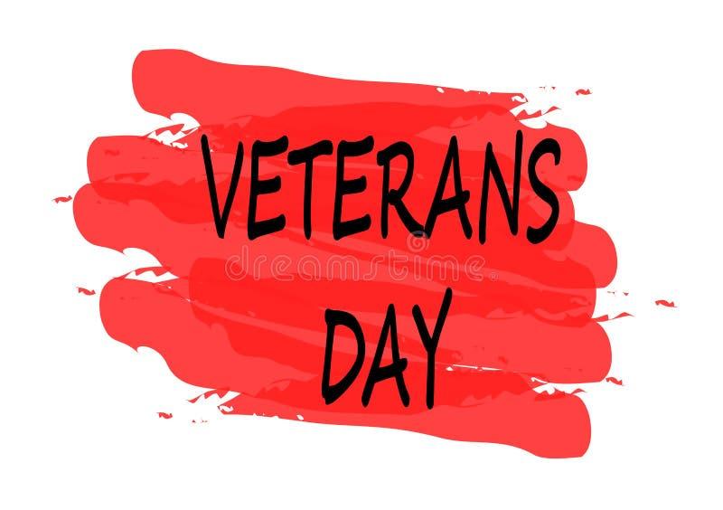 Bandeira do dia de veteranos ilustração do vetor