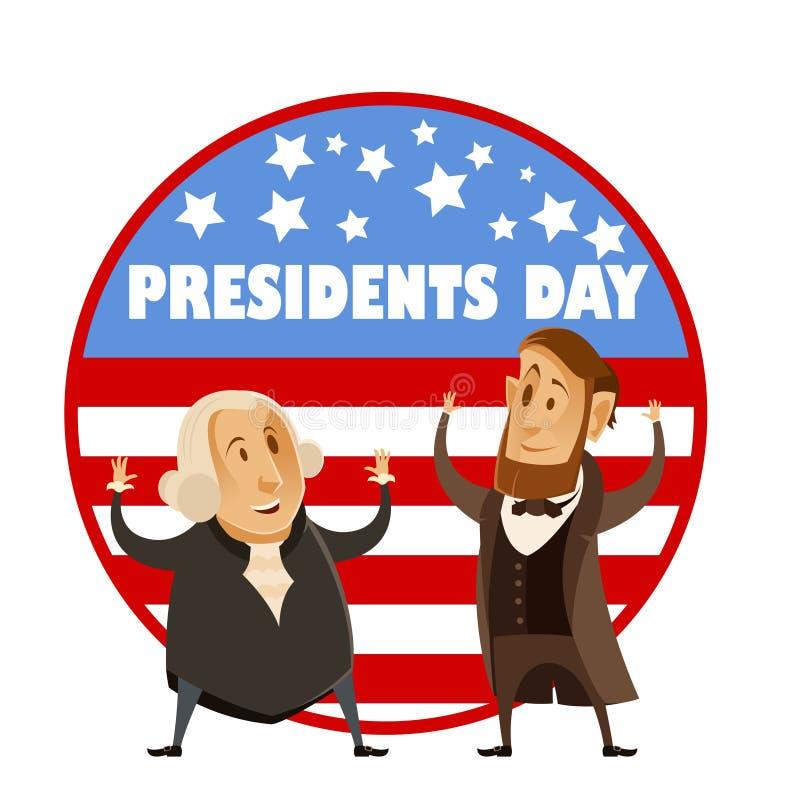 Bandeira do dia dos presidentes ilustração do vetor