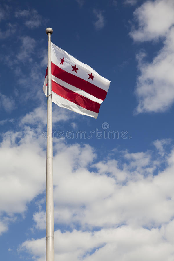 Bandeira do distrito de Columbia (Washington, C.C.) foto de stock