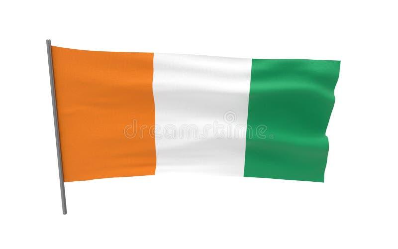Bandeira do dlvoire da costa ilustração stock