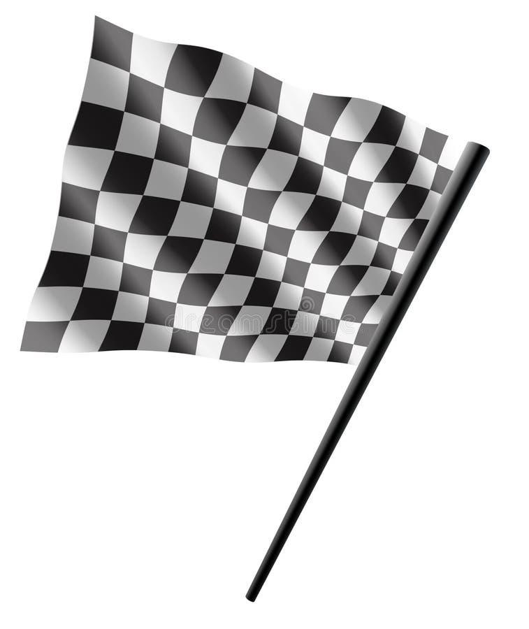 Bandeira do esporte ilustração royalty free