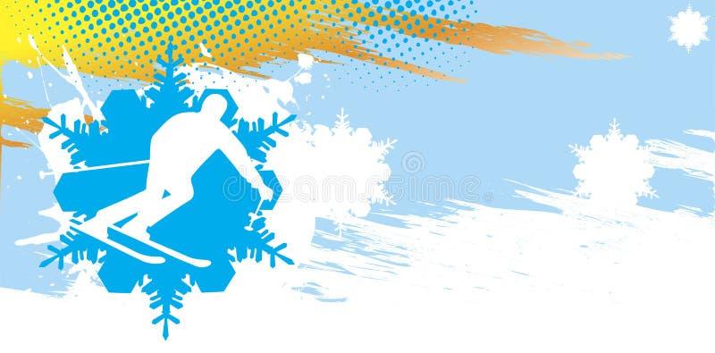 Bandeira do esqui ilustração do vetor
