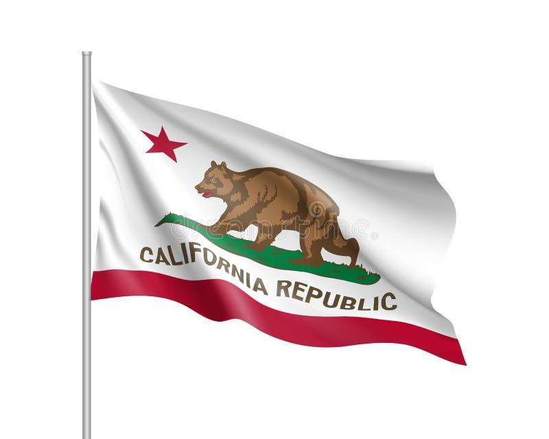 Bandeira do estado americano de Califórnia ilustração do vetor