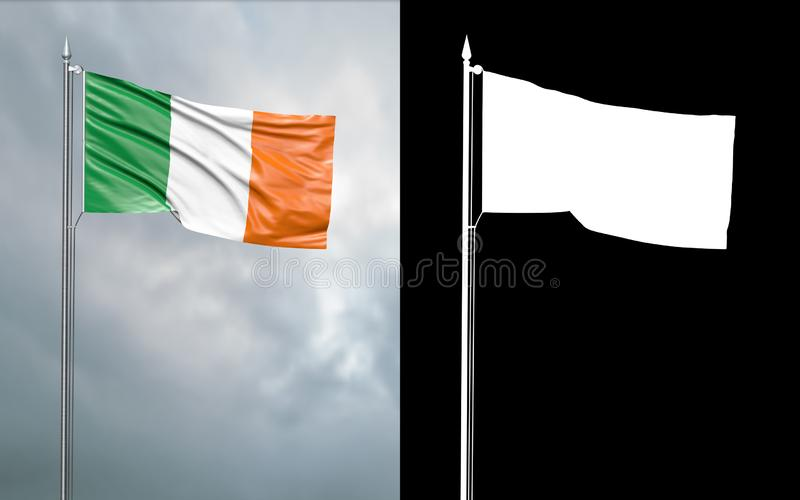 Bandeira do estado da comunidade da República da Irlanda ilustração do vetor