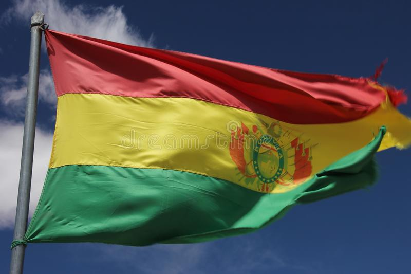 A bandeira do estado de Bolívia fotos de stock royalty free