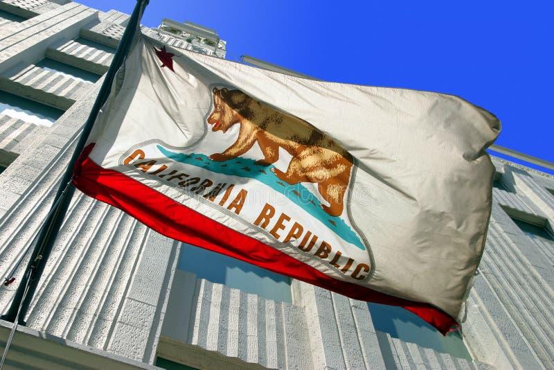 Bandeira do estado de Califórnia imagem de stock