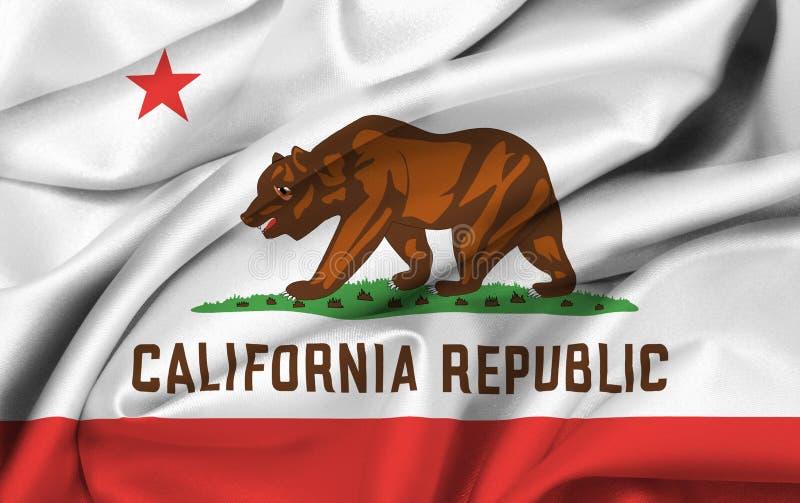 Bandeira do estado de Califórnia ilustração do vetor