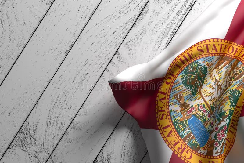 Bandeira do estado de Florida ilustração do vetor
