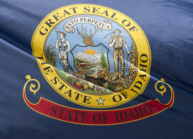 Bandeira do estado de Idaho foto de stock