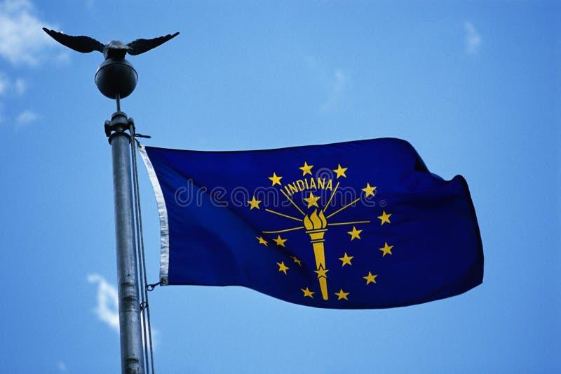 Bandeira do estado de Indiana foto de stock royalty free