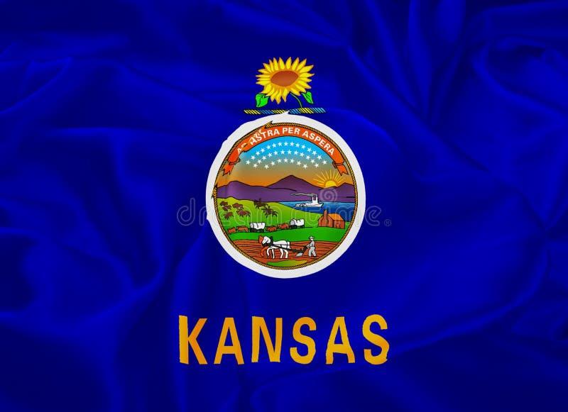 Bandeira do estado de Kansas ilustração royalty free
