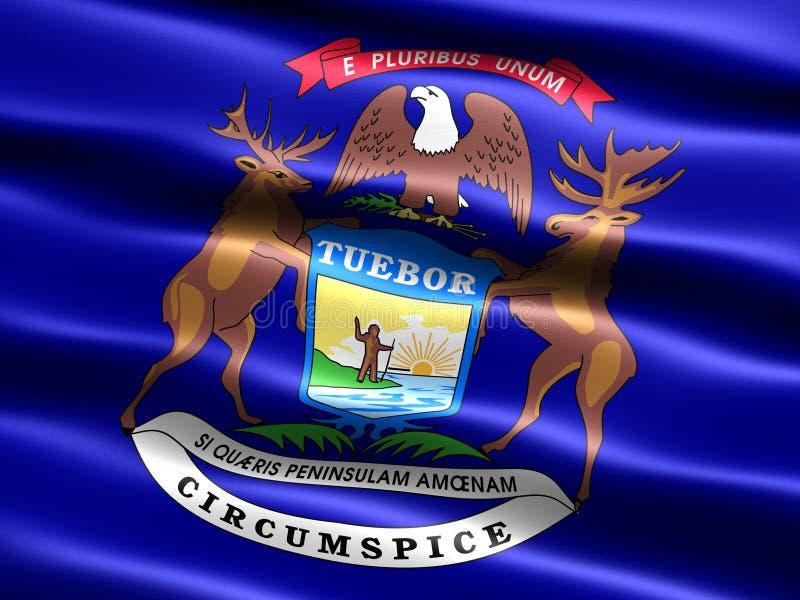 Bandeira do estado de Michigan ilustração stock