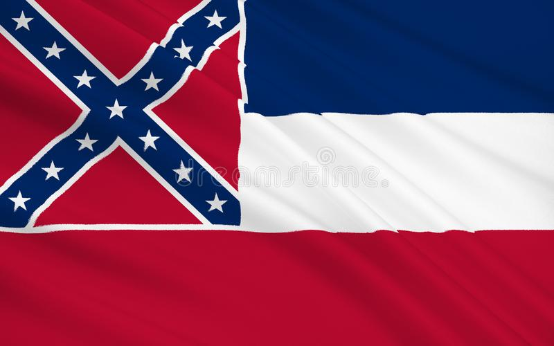 Bandeira do estado de Mississippi ilustração royalty free