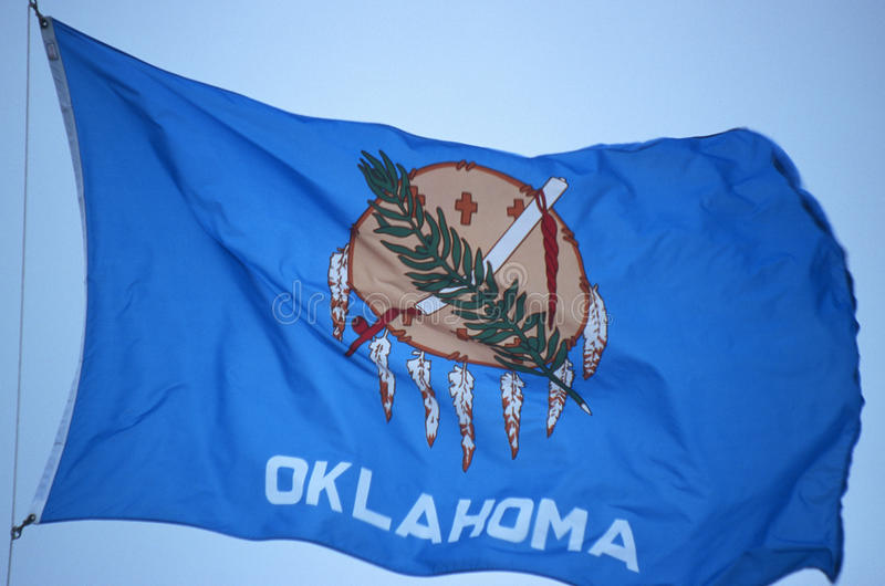 Bandeira do estado de Oklahoma fotos de stock