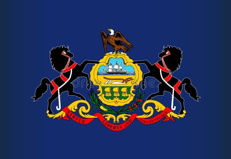 Bandeira do estado de Pensilvânia ilustração royalty free