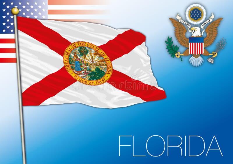 Bandeira do estado federal de Florida, Estados Unidos ilustração royalty free