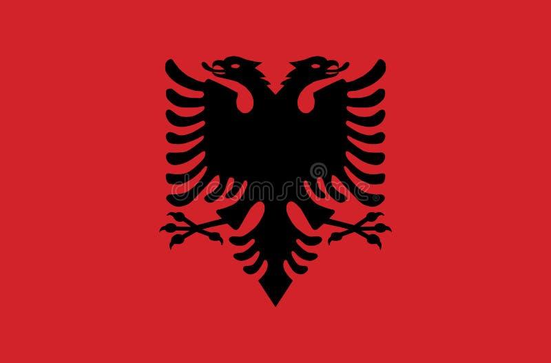 Bandeira do estado soberano do país de Albânia em cores oficiais imagem de stock