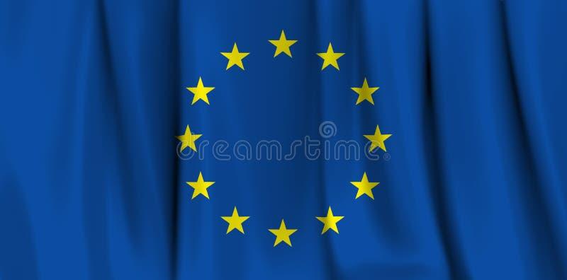 Bandeira do Europa ilustração stock