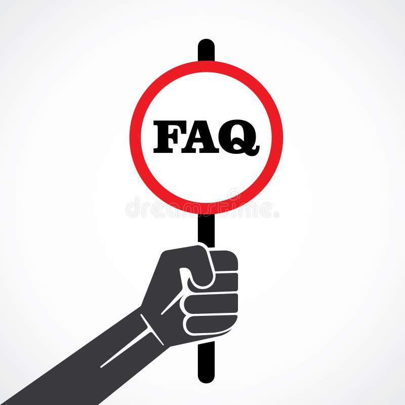 Bandeira do FAQ ilustração royalty free