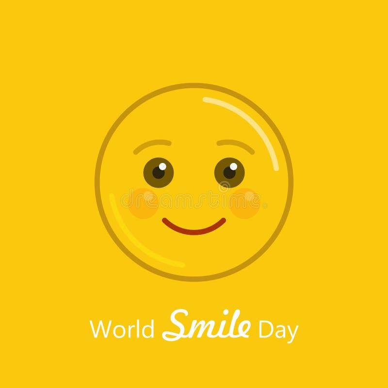Bandeira do feriado do dia do sorriso do mundo ilustração stock