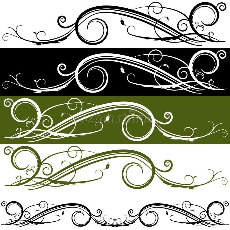 Bandeira do Flourish ilustração do vetor