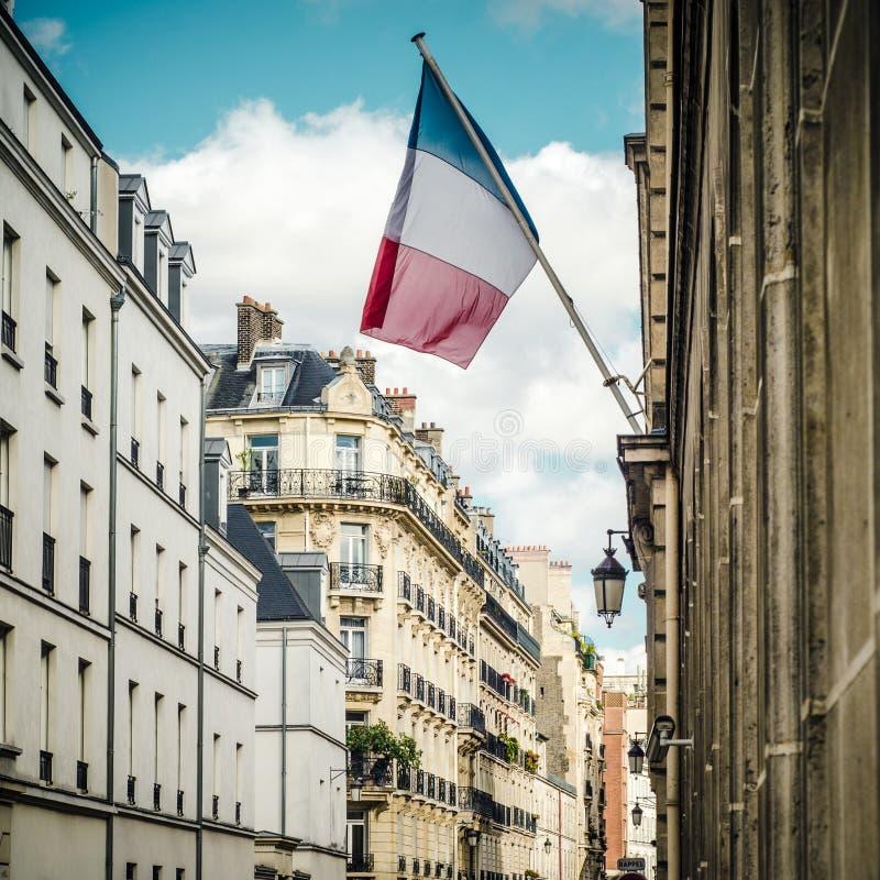 Bandeira do francês de Paris imagens de stock royalty free