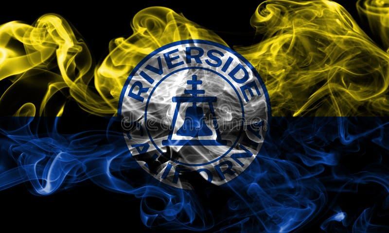 Bandeira do fumo da cidade do beira-rio, estado de Califórnia, Estados Unidos do Am imagens de stock royalty free