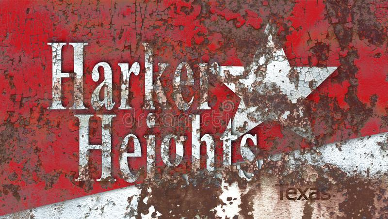 Bandeira do fumo da cidade das alturas de Harker, Texas State, Estados Unidos do Am foto de stock