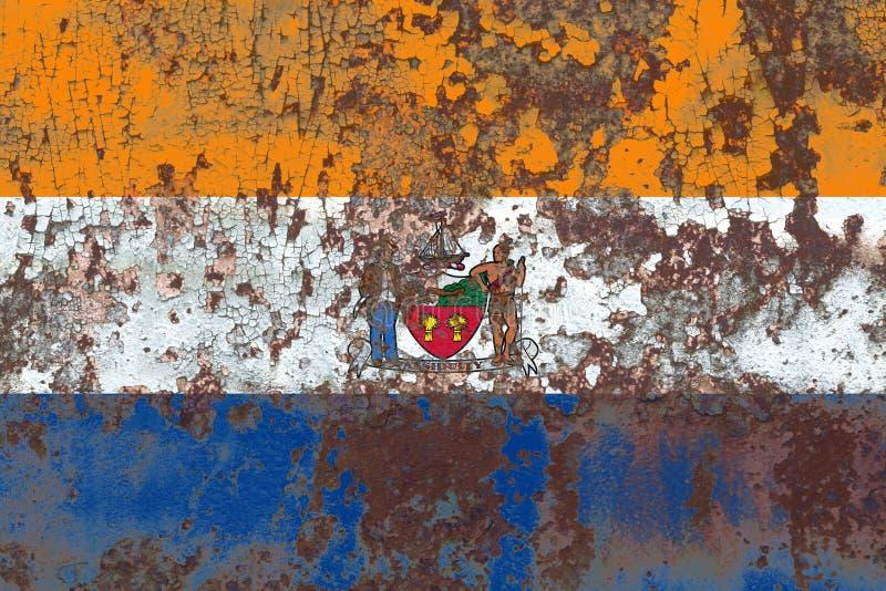Bandeira do fumo da cidade de Albany, estado novo de Yor, Estados Unidos da América imagens de stock royalty free