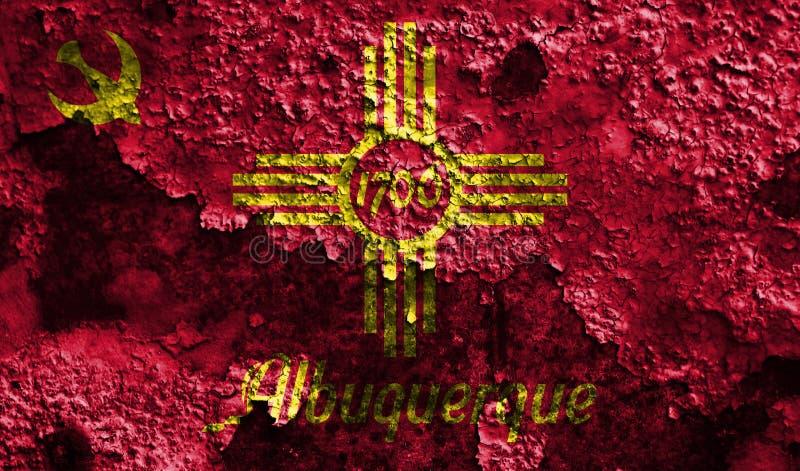 Bandeira do fumo da cidade de Albuquerque, estado de New mexico, Estados Unidos de ilustração royalty free