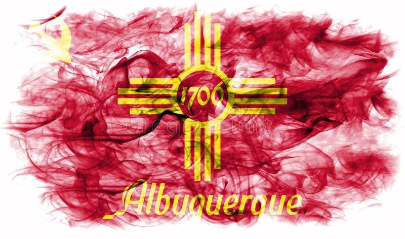 Bandeira do fumo da cidade de Albuquerque, estado de New mexico, Estados Unidos de ilustração stock