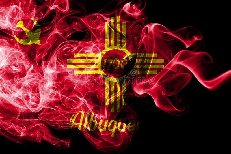 Bandeira do fumo da cidade de Albuquerque, estado de New mexico, Estados Unidos da América ilustração do vetor