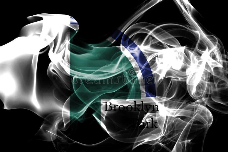 Bandeira do fumo da cidade de Brooklyn Park, estado de Minnesota, Estados Unidos de imagem de stock