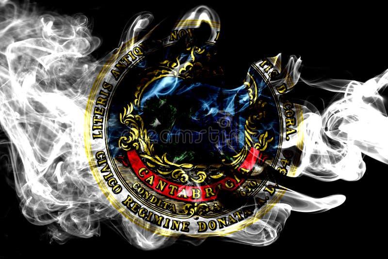 Bandeira do fumo da cidade de Cambridge, estado de Massachusetts, Estados Unidos de foto de stock