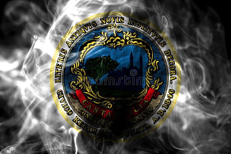 Bandeira do fumo da cidade de Cambridge, estado de Massachusetts, Estados Unidos de fotografia de stock royalty free