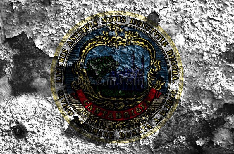 Bandeira do fumo da cidade de Cambridge, estado de Massachusetts, Estados Unidos da América fotografia de stock royalty free