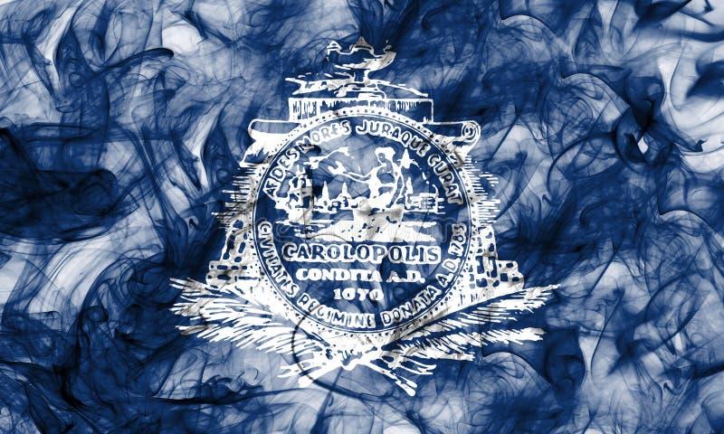 Bandeira do fumo da cidade de Charleston, Carolina State sul, Estados Unidos ilustração royalty free