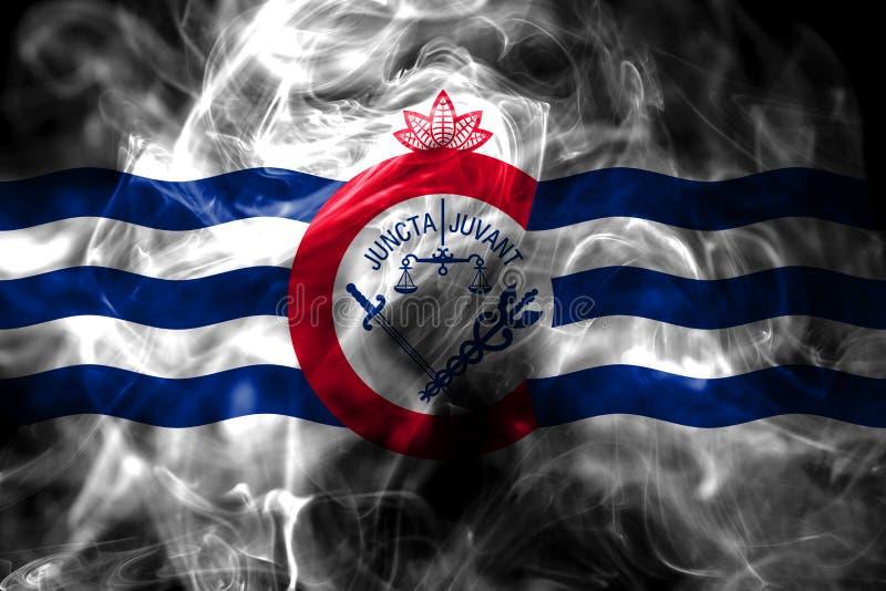 Bandeira do fumo da cidade de Cincinnati, estado de Ohio, Estados Unidos da América imagens de stock