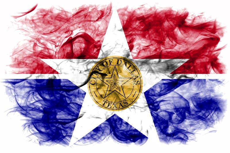 Bandeira do fumo da cidade de Dallas, estado de Illinois, Estados Unidos da América fotos de stock
