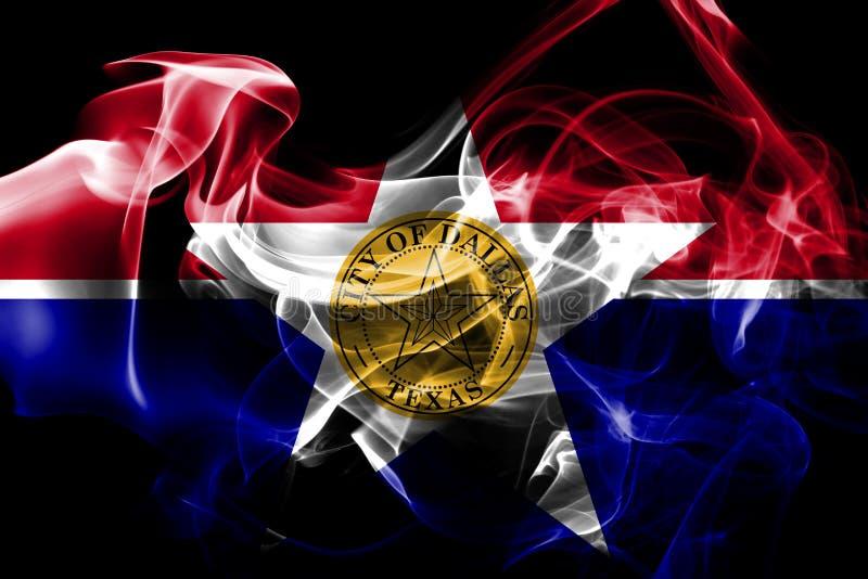 Bandeira do fumo da cidade de Dallas, estado de Illinois, Estados Unidos da América ilustração royalty free