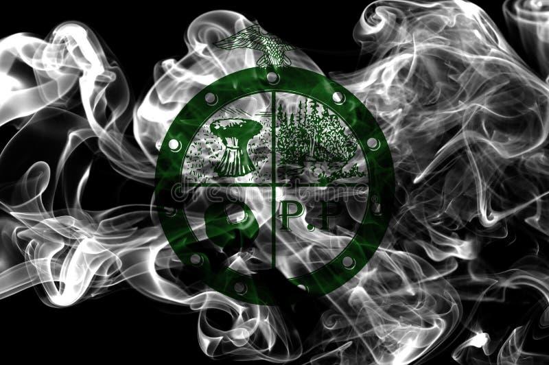 Bandeira do fumo da cidade de Pee Pee Township, estado de Ohio, Estados Unidos de A imagem de stock royalty free