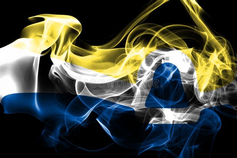 Bandeira do fumo da cidade de San Luis Obispo, estado de Califórnia, Estados Unidos fotos de stock