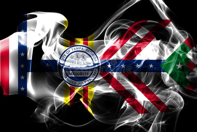 Bandeira do fumo da cidade de Tampa, estado de Florida, Estados Unidos da América fotografia de stock royalty free